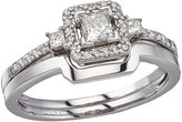 Direct-Jewelry 14K Gold Princess Diamond Band Ring Set (Size 5)