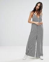 Noisy May Oversized Stripe Jumpsuit