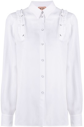 No.21 snap ruffles shirt