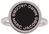 Marc Jacobs Silver Enamel Logo Disc Ring
