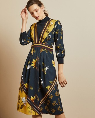 Ted Baker JUUDYY Savanna mockable neck midi dress