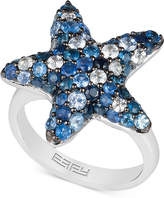 Effy EFFYandreg; Sapphire Starfish Ring (3 ct. t.w.) in Sterling Silver
