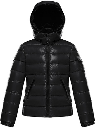 Moncler Bady Quilted Hooded Puffer Jacket, Size 4-6