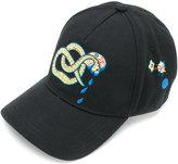Diesel snake embroidered cap