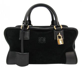 Loewe Amazona Black Suede Handbags