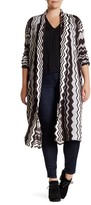 14th & Union Long Wavy Cardigan (Plus Size)