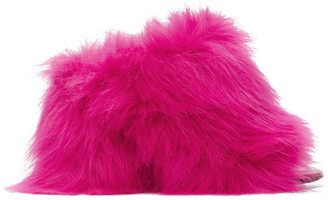 Vetements Pink Fur Mules