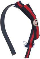 Gucci Logo Grosgrain Bow Leather Headband