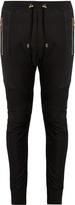 Balmain Biker mesh-panel jersey track pants