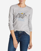 Eddie Bauer Women's Graphic Long-Sleeve T-Shirt - Dream Stars, Lakes, & Mountains