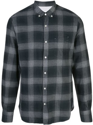 Officine Generale Plaid Long-Sleeve Shirt
