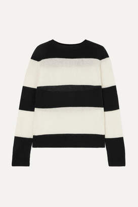 RE/DONE Striped Wool And Cashmere-blend Sweater - Black