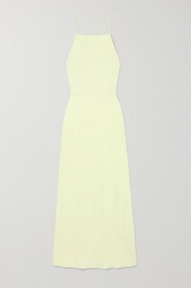 Jason Wu Collection Open-back Satin Midi Dress - Lime green