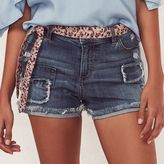 Lauren Conrad Women's Ripped Patch Jean Shorts