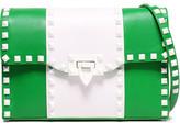 Valentino Garavani Studded Two-tone Leather Shoulder Bag