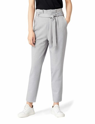 Meraki Amazon Brand Women's Jersey Paper Bag Trouser