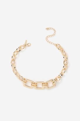 Topshop Womens **Chunky Square Link Necklace - Gold