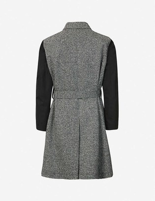 Alexander McQueen Belted wool and cotton trench coat