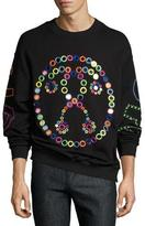 Moschino Rainbow Mirror Question Mark Sweatshirt, Black/Multicolor