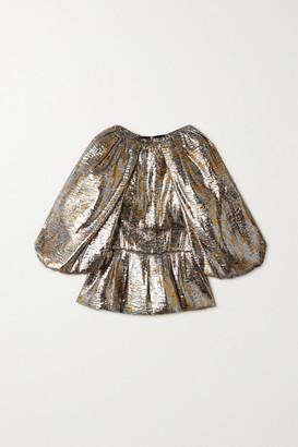 Dries Van Noten Silk-blend Lame Blouse - Silver
