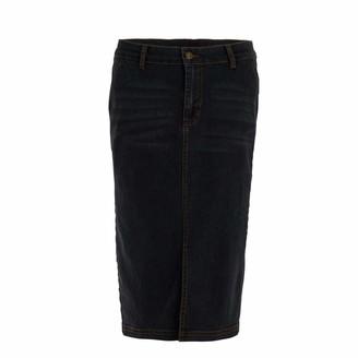 Weird Fish Madison Denim Midi Skirt Grey Size 16