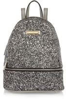 River Island Womens Silver glitter mini backpack