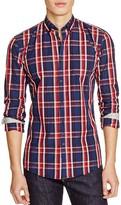 Woolrich Macro Check Regular Fit Button Down Shirt