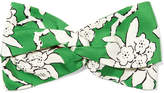 Valentino Floral-print Silk-twill Headband - Mint
