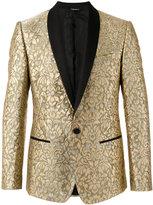 Dolce & Gabbana paisley embossed blazer - men - Silk/Lurex/Polyamide/Viscose - 48