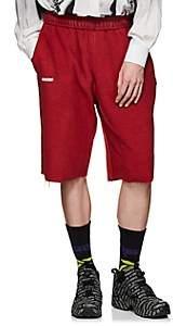 Vetements Men's Cotton-Blend Inside-Out Drop-Rise Shorts - Red