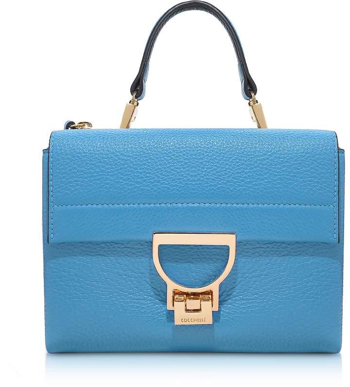 Coccinelle Sky Blue Pebbled Leather Arlettis Mini Bag w/Shoulder Strap