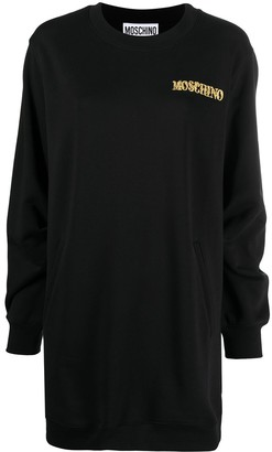Moschino Embroidered Logo Sweater Dress