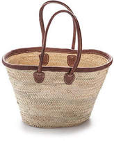 NEW Classic palm basket with leather trim Women's by 2 duck trading co