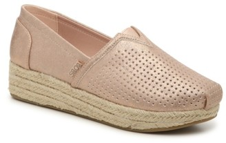 Skechers BOBS Highlights City Glam Espadrille Wedge Slip-On