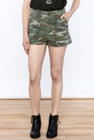 Free People Camouflage Printed Shorts
