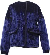 Tomcsanyi Rozsi Quilted Velvet Zip-Up Jacket