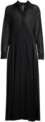 Norma Kamali Shirt Flared Dress
