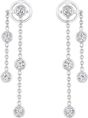 De Beers White Gold and Diamond My First Drop Earrings