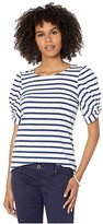 Lilly Pulitzer Elisabette Top (High Tide Navy Perfect Pair Stripe) Women's Clothing