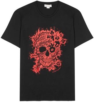 Alexander McQueen Black printed cotton T-shirt