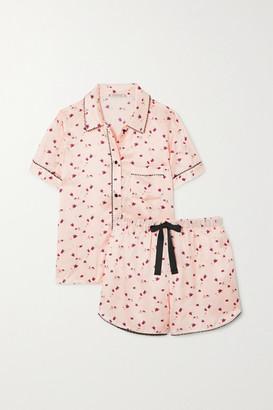 Morgan Lane Tami Bea Printed Satin Pajama Set - Blush