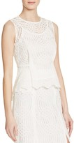 Whistles Clementine Lace Peplum Top - 100% Exclusive