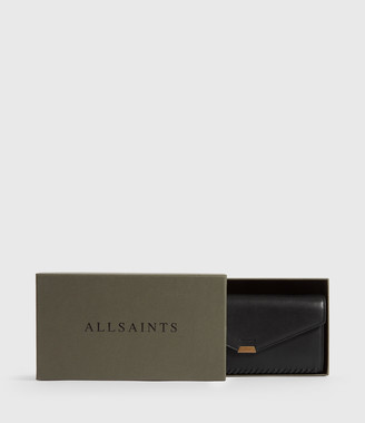 AllSaints Courtney Chain Leather Wallet