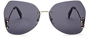 Marc Jacobs Women's Marc Rimless Butterfly Sunglasses, 63mm
