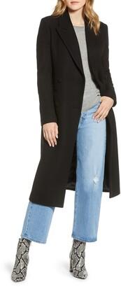 AVEC LES FILLES Double Breasted Wool Blend Coat