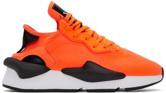 Y-3 Y 3 Orange and Black Kaiwa Sneakers