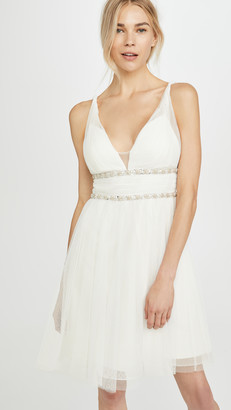 Marchesa Sleeveless Cocktail Dress