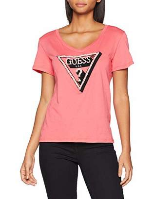 GUESS Women's Ss Cn Pearl Tee Kniited Tank Top,Large