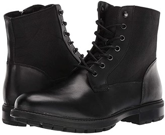 Steve Madden Self Made Chuck (Black Leather) Men's Lace-up Boots
