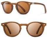 Shwood Women's 'Florence' 49Mm Polarized Wood Sunglasses - Teak/ Oak/ Brown Polar